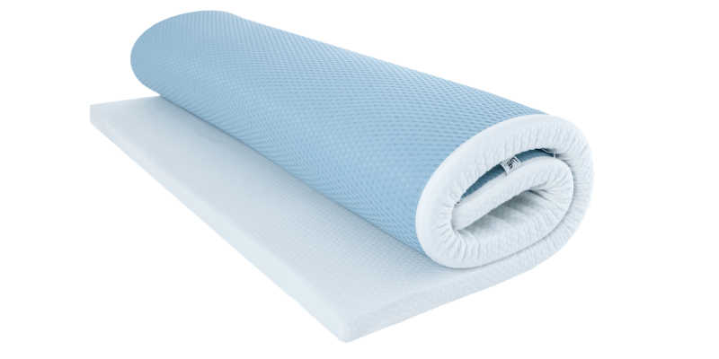 bamboo mattress topper rolled up